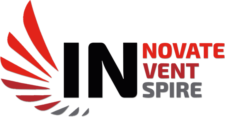 Red and Black Coloured Logo for INNOVATE, INVENT, INSPIRE