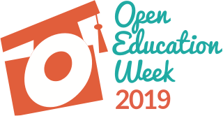 Open Education Week 2019 Orange Font White Background
